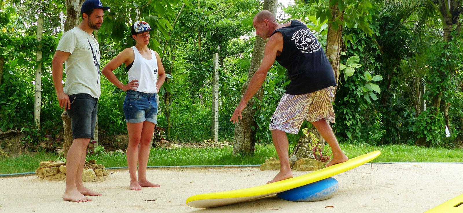 land based surf coaching