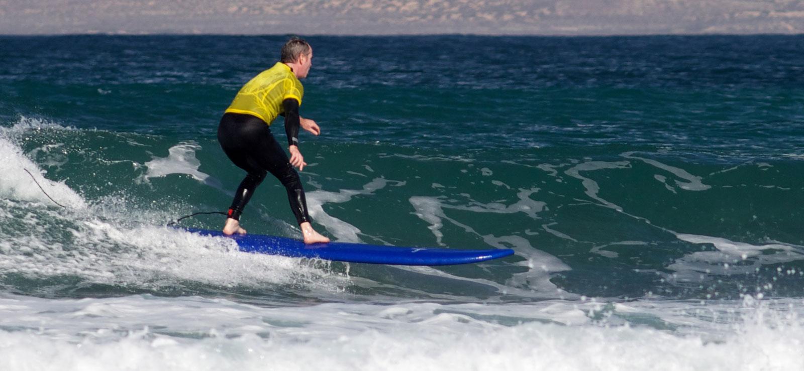 riding unbroken waves
